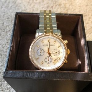 Michael Kors two tone watch. Great condition!